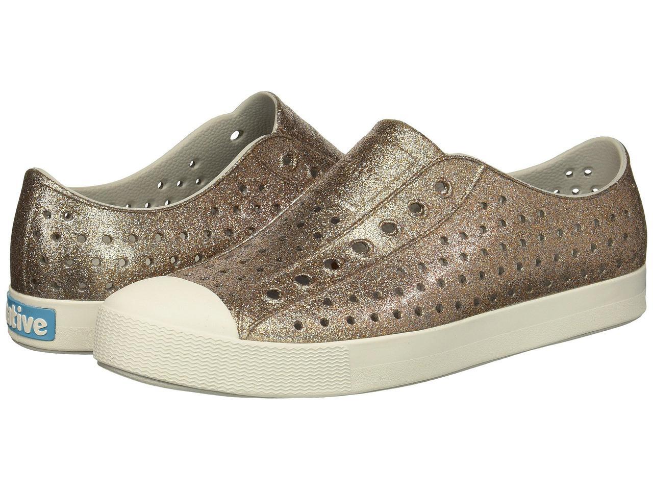 Кроссовки/Кеды (Оригинал) Native Shoes Jefferson Bling Metal Bling/Shell White