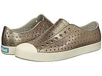 Кроссовки/Кеды (Оригинал) Native Shoes Jefferson Bling Metal Bling/Shell White, фото 1