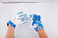 Перчатки   DIRTPAW   (mod:038, size:XL, синя-белые)    FOX