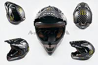 Шлем кроссовый   (mod:Skull) (size:XL, черный)   MONSTER ENERGY
