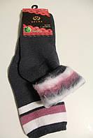 Женские шерстяные носки с начёсом оптом.