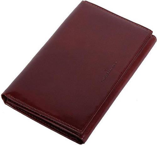 Кожаный мужской кошелек VIP COLLECTION 182B NY коричневый