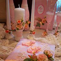Свадебные аксессуары ручной работы, заказать в Сумах в розовом цвете
