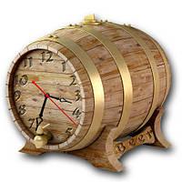 """Фигурные настенные часы """"Бочка пива"""" оформление бара"""