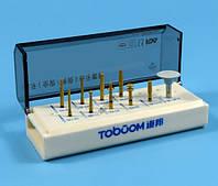 Набор боров для препарирования зубов под керамические и циркониевые коронки FG 0710D Toboom, фото 1