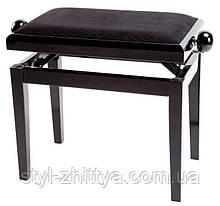 Стілець для піаніно, чорний ГЛЯНЕЦЬ