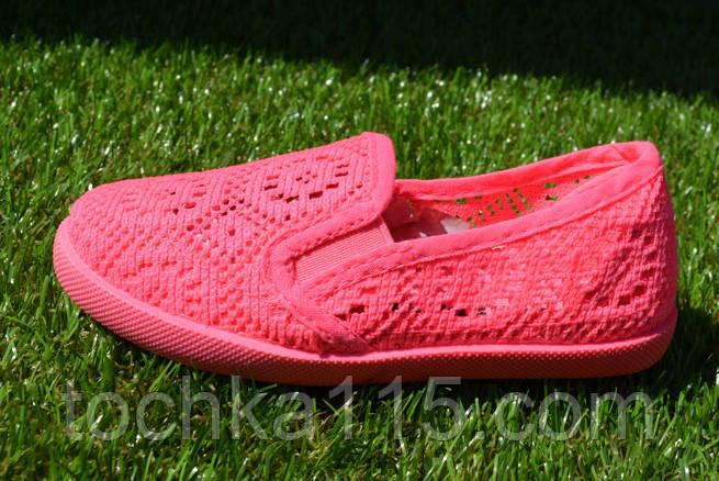 Детские мокасины слипоны сетка сеточка розовые 24 - 29, фото 1