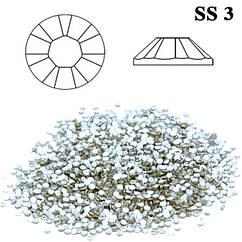 Камни Стразы Diamond Crystal SS 3 Серебро (Прозрачные) Набор 50 шт., от 5 наборов