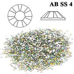 Набор Камни Стразы Diamond 50 шт. Crystal AB SS 4 Хамелеон (Бензин), от 5 наборов