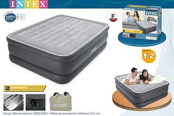 Надувний матрац ліжко з вбудованим електронасосом Intex 64140