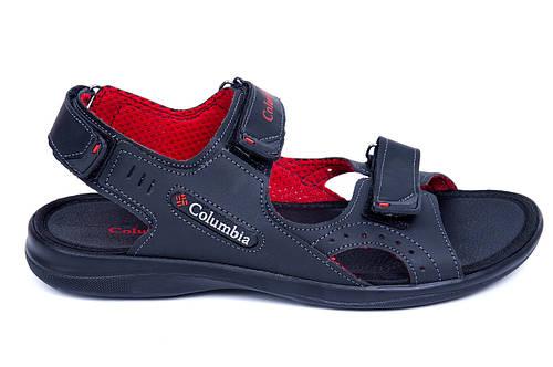 Мужские кожаные сандалии Columbia Track Black