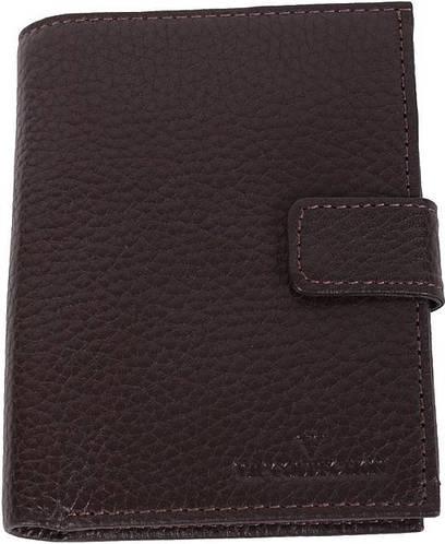 Кошелек мужской кожаный вертикальный VIP COLLECTION Украина Boston 90B flat коричневый, 90A flat черный