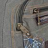 Джынсовый городской мужской рюкзак GOLD BE  B596  оливковый (43х25х18 см.  18 литров), фото 6