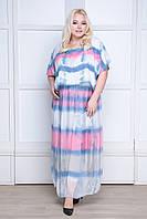 Летнее радужное платье, размер 48-54