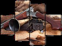Модульная картина Охотничье ружье