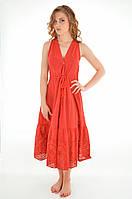 Красное пляжное платье с вышивкой Ora 18070/3 44(M) Красный Ora 18070/3