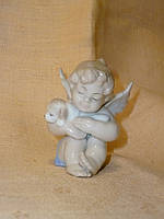 """JP-35/ 5 Фарфоровая статуэтка - фигурка ангел со щенком """"Неразлучные друзья"""" Pavone 5 сантиметров высота"""