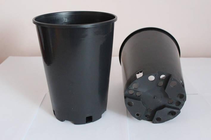 Горшок для рассады 2л,(14x18см),круглый,высокий,50шт\уп, фото 2