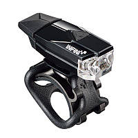 Мигалка передняя INFINI Mini LAVA, USB, 1 белый светодиод, чёрный корпус, 4 режима, пластик кронш+силик. петля