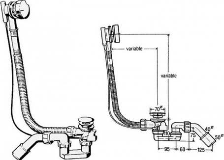 Сифон для ванны Simplex полуавтомат VIEGA 285357 , фото 2
