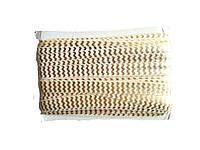 Резинка-бейка Белая с золотыми кривыми линиями 1.5 см/1 м