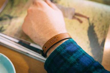 Кожаный браслет Knockwood - Ribble, Brown коричневый