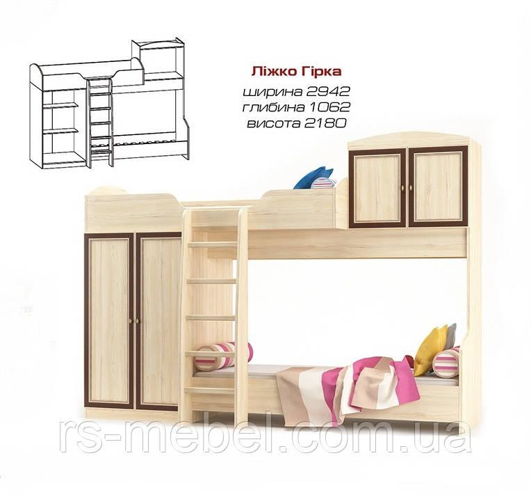 Кровать двухъярусная Дисней (Мебель-Сервис )