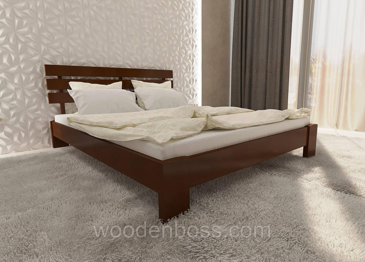 """Кровать односпальная от """"Wooden Boss"""" Сакура Люкс (спальное место 90х190/200)"""