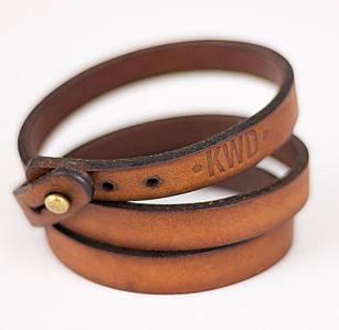Кожаный браслет Knockwood - Trent, Brown коричневый