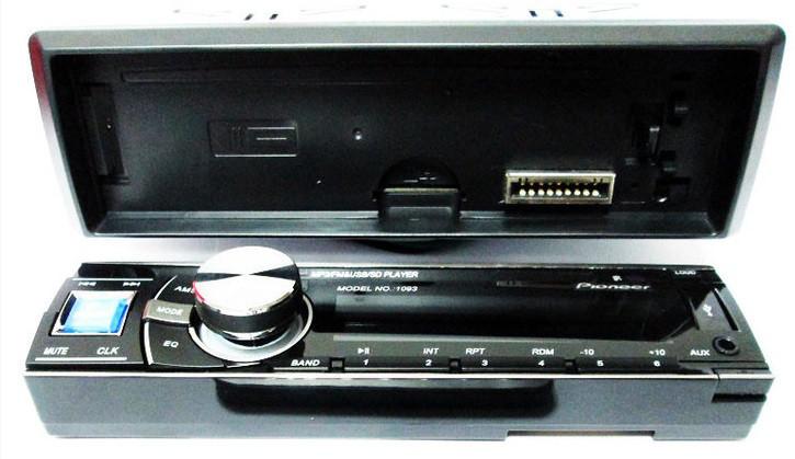 Автомагнитола универсальная Pioneer 1093 1093 - USB флешки + SD карты памяти + AUX + FM (4x50W)  Подробнее: h