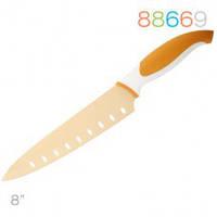 Нож Granchio поварской, оранжевый 20,3 см