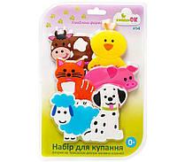 """Набор игрушек для купания на присосках ТМ """"KINDERENOK"""" Любимая Ферма , фото 1"""