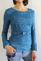 Рубашка женская бирюзовый 1348