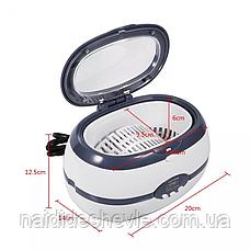 Профессиональная ультразвуковая мойка - стерилизатор VGT-2000 с цифровым дисплеем 600 мл, 35 Вт., фото 2