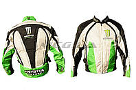 Мотокуртка   MONSTER ENERGY   (текстиль) (mod:1, size:XXL, зеленая)