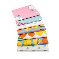 Набор тканей (Ткань) Разноцветные оттенки для Пэчворка 40x50 см 7 шт, фото 1