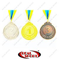 Медаль спортивна зі стрічкою Fame C-3968 1-золото, 2-срібло, 3-бронза