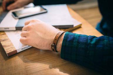 Кожаный браслет Knockwood - Mersey, Brown коричневый
