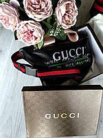 Стильная сумочка на пояс Gucci черная (реплика), фото 1