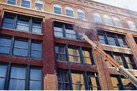 Пескоструйная очистка фасада