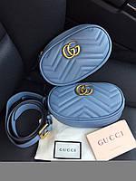 Стильная сумочка на пояс GucciMarmont matelassé belt bag (реплика), фото 1