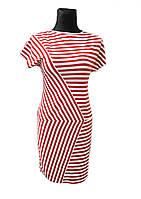 Трикотажное платье Lunette бело-красная полоса, фото 1