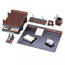 Настольный набор на 8 предметов из натурального дерева и зеленого мрамора Bestar 8286 WDN, фото 2