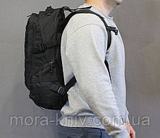 Тактический (городской, штурмовой) рюкзак Oxford 600D с системой M.O.L.L.E на 30 литров Black (ta30-black), фото 3