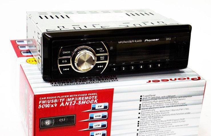 Автомагнитола стандартный размер Pioneer 2053MP3/SD/USB/AUX/FM