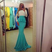 Длинное платье золотой песок рыбка