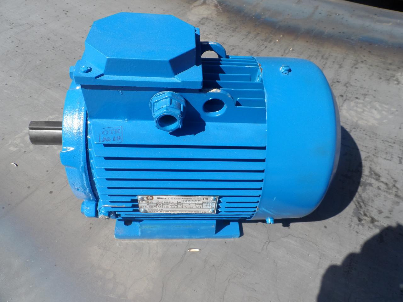 Электродвигатель АИР 90 L6 1,5 кВт (1000 об/мин) (Белорусь)