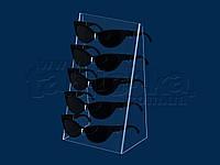 Подставка под очки наклонная, акрил 3 мм