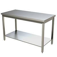 Стол для разделки мяса из нержавеющей стали с нижней полкой   Разделочный стол для мяса на кухню из нержавейки, фото 1