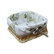 Хлебница плетеная Оливка с чехлом
